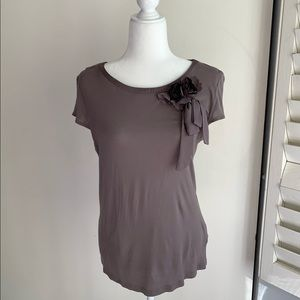 H&M tee with floral applique